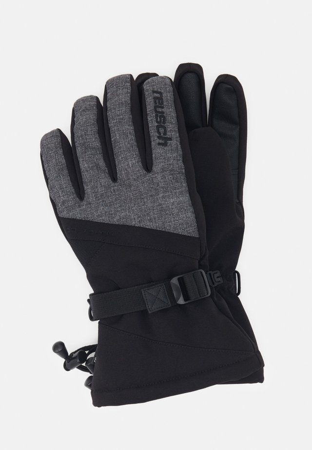 OUTSET R-TEX® XT - Fingervantar - black/black melange