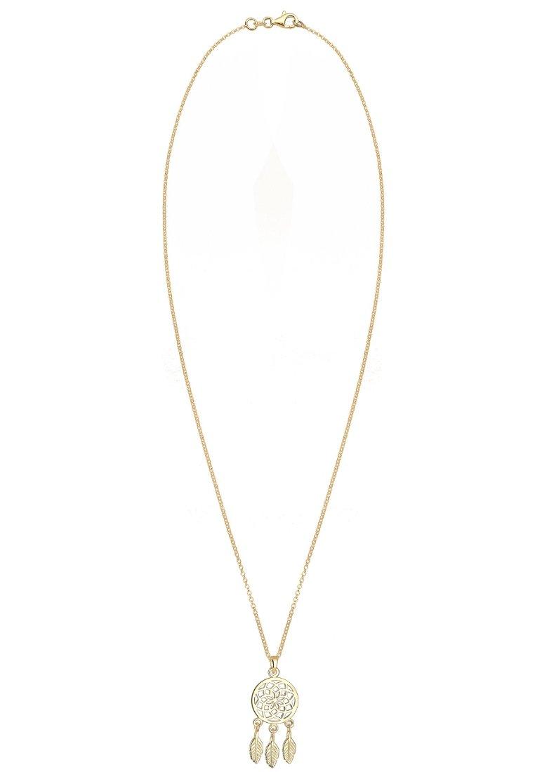 Elli Traumfänger Feder Boho - Halskette Gold-coloured/gold