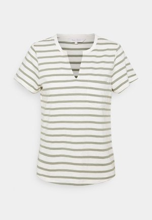 GESINA - Print T-shirt - khaki