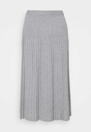 PLEAT SKIRT - Pleated skirt - light grey