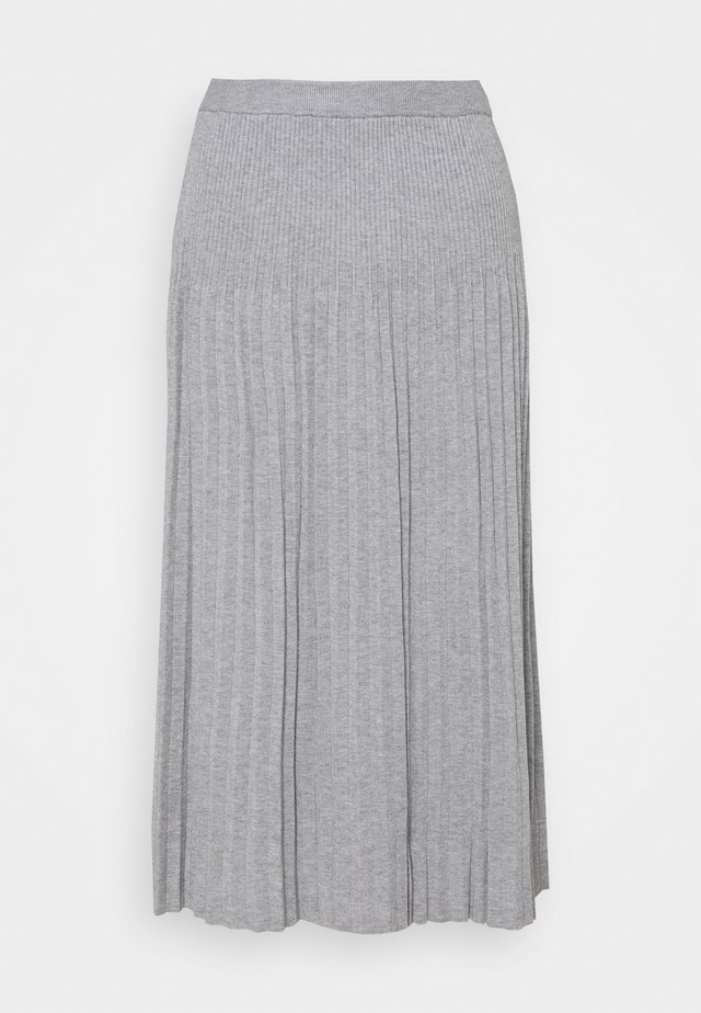 PLEAT SKIRT - Vekkihame - light grey