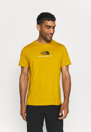 NEW CLIMB TEE - Print T-shirt - arrowwood yellow