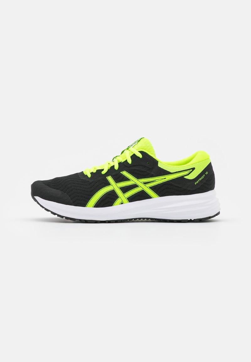 ASICS - PATRIOT 12 - Stabilni tekaški čevlji - black/safety yellow