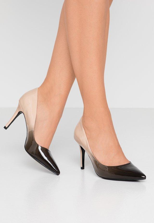 AMMBRE - High heels - black/nude