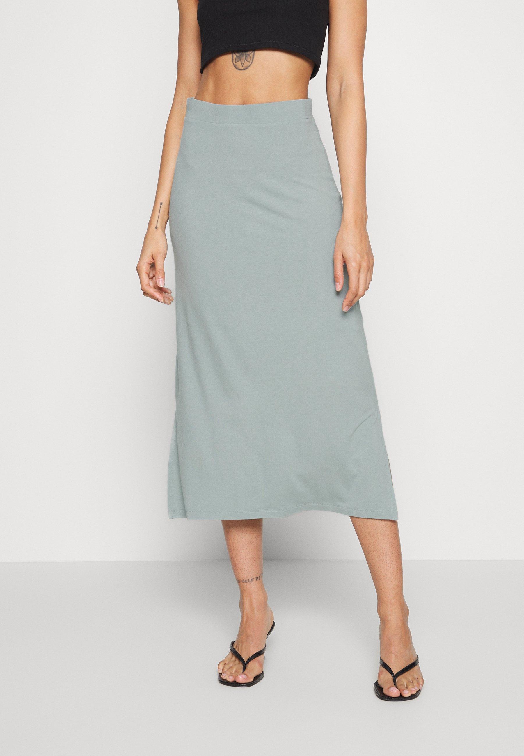 Even Odd Basic Maxi Skirt Jupe Longue Abyss Vert Clair Zalando Be