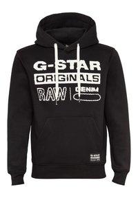 G-Star - ORIGINALS HOODED SW L\S DK BLACK MEN - Sweat à capuche - dk black - 1