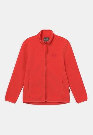 BAKSMALLA UNISEX - Fleece jacket - tulip red