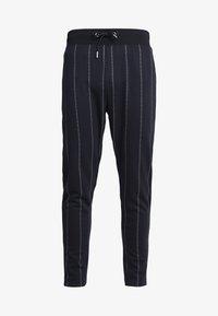 Topman - PINSTRIPE TRACK  - Pantaloni sportivi - dark blue - 3