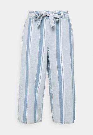 VMAKELA PAPER CULOTTE - Trousers - light blue denim/white