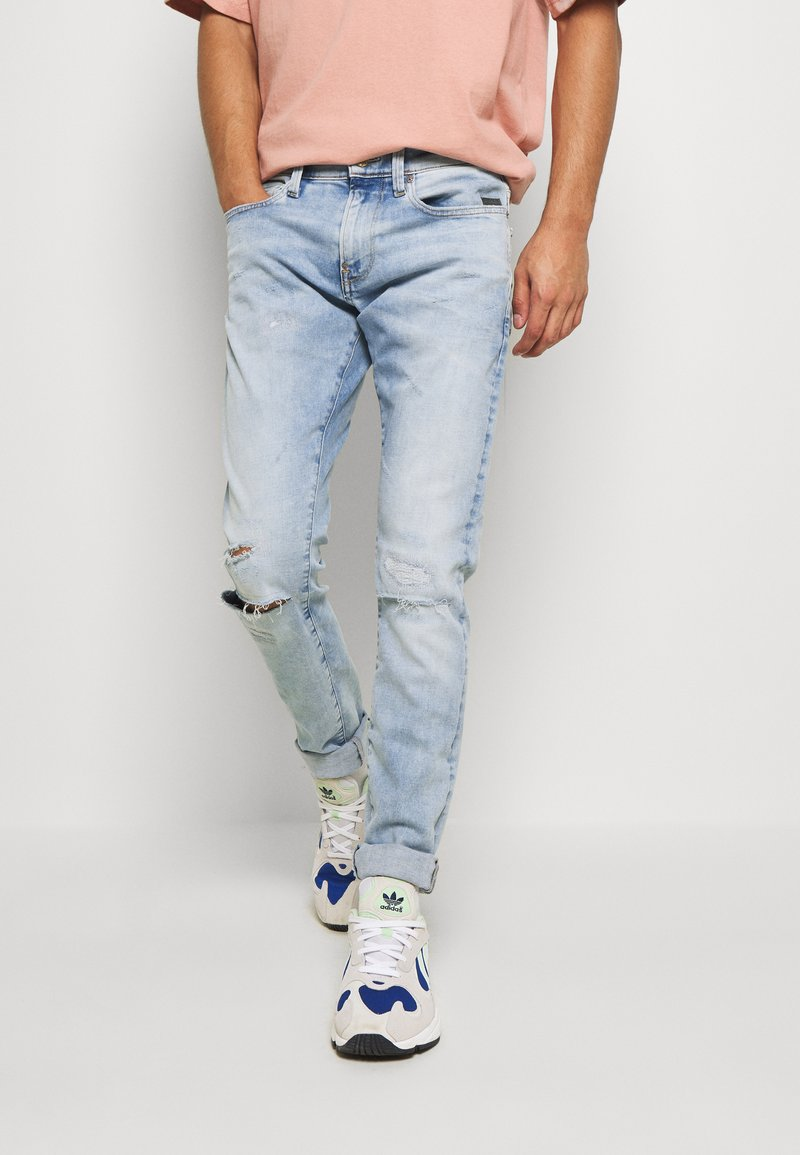G-Star - REVEND SKINNY - Jeans Skinny Fit - elto pure superstretch/sun faded ripped topaz blue
