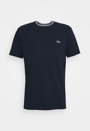 T-shirt con stampa - bleu marine/blanc