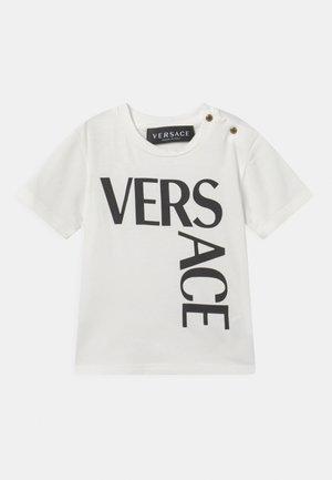 LOGO UNISEX - T-shirt print - bianco/nero