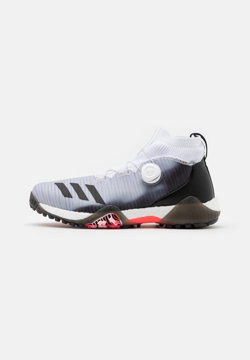 adidas Golf - CHAOS BOOST PRIMEKNIT TRAXION GOLF SHOES - Golfové boty - footwear white/core black/light flash orange