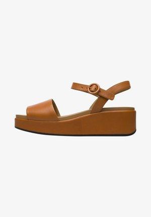 MISIA - Korkeakorkoiset sandaalit - braun