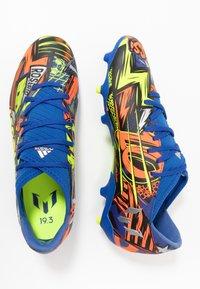 adidas Performance - NEMEZIZ MESSI 19.3 FG - Moulded stud football boots - team royal blue/silver metallic/solar yellow - 1