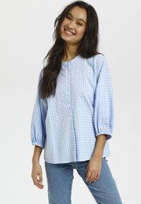 Kaffe - Button-down blouse - light blue check - 0