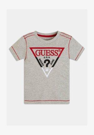 FRONTLOGO STICKEREI - T-shirt z nadrukiem - hellgrau