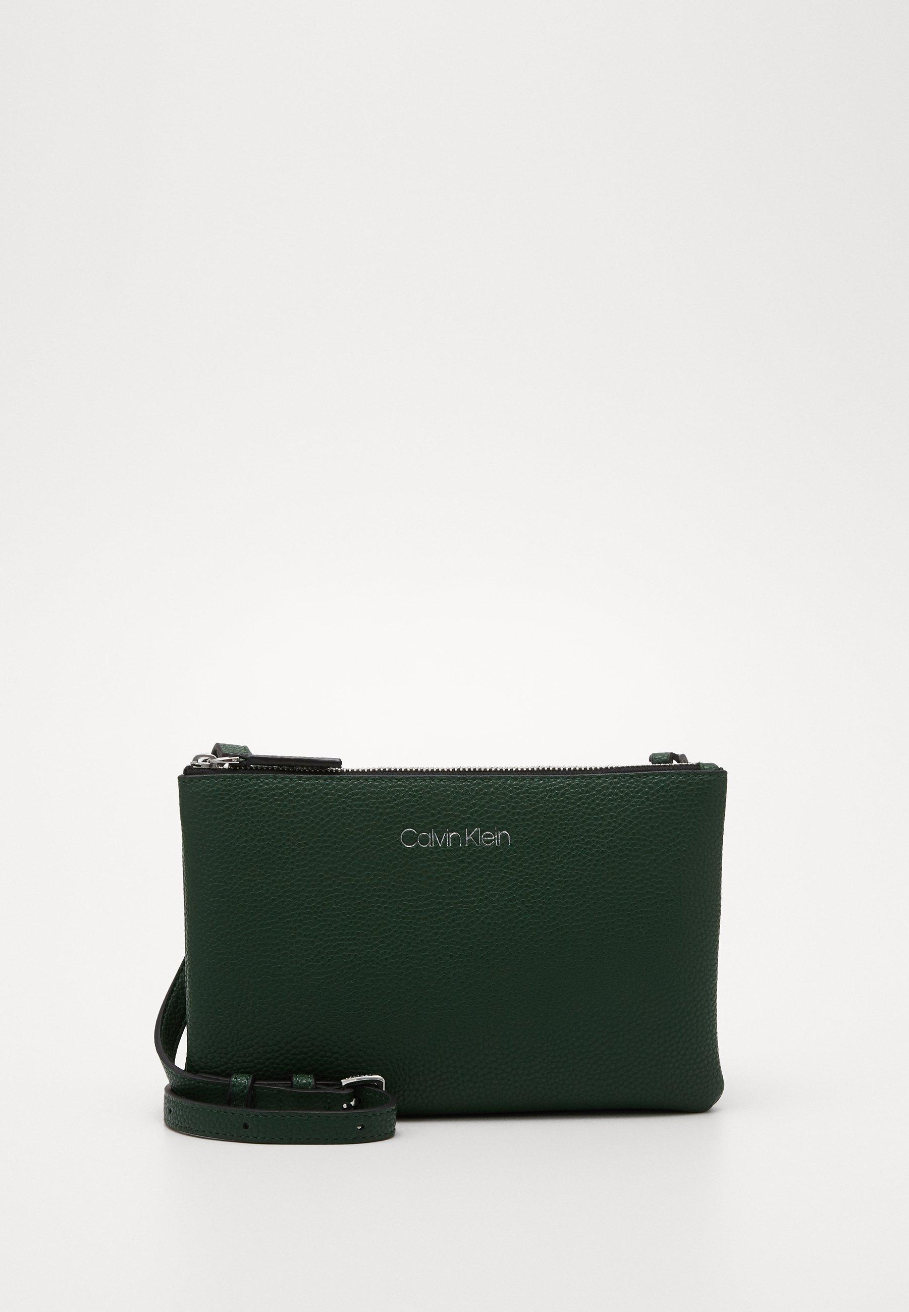 Calvin Klein Everyday Duo Crossbody - Skuldertasker Green