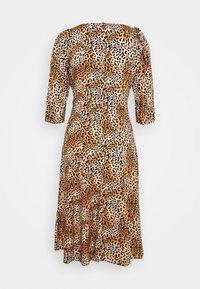 Dorothy Perkins Petite - ANIMAL SQUARE NECK MIDI DRESS - Day dress - brown - 5