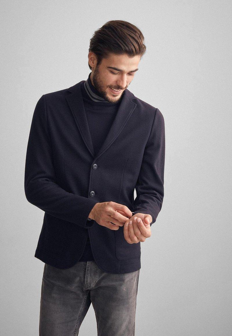 Falconeri - BLAZER AUS KASCHMIRJERSEY - Blazer jacket - blue navy