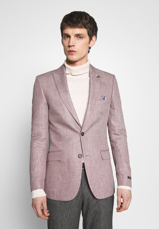 BLEND TEXTURE SUIT JACKET SLIM - Colbert - pink