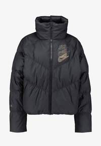 FILL SHINE - Down jacket - black/gold
