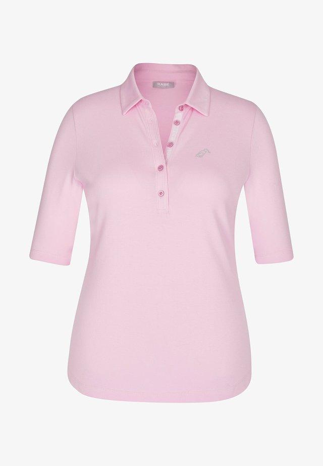 MIT UNIFARBENEM STOFF UND GLITZERSTEINEN - Polo shirt - rosa