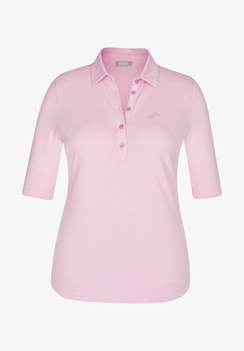 Rabe 1920 - MIT UNIFARBENEM STOFF UND GLITZERSTEINEN - Polo shirt - rosa