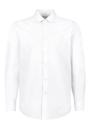 NAVY REGULAR FIT SHORT SLEEVE EASY CARE SHIRT - Camicia elegante - white