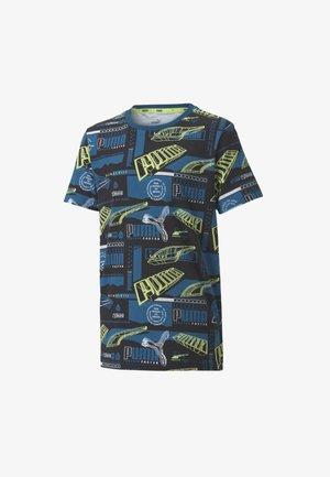 ALPHA  - Print T-shirt - digi-blue