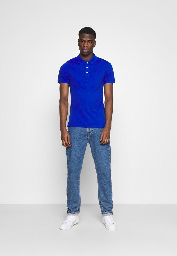 Tommy Jeans ORIGINAL FINE SLIM FIT - Koszulka polo - blue/niebieski Odzież Męska MMPU