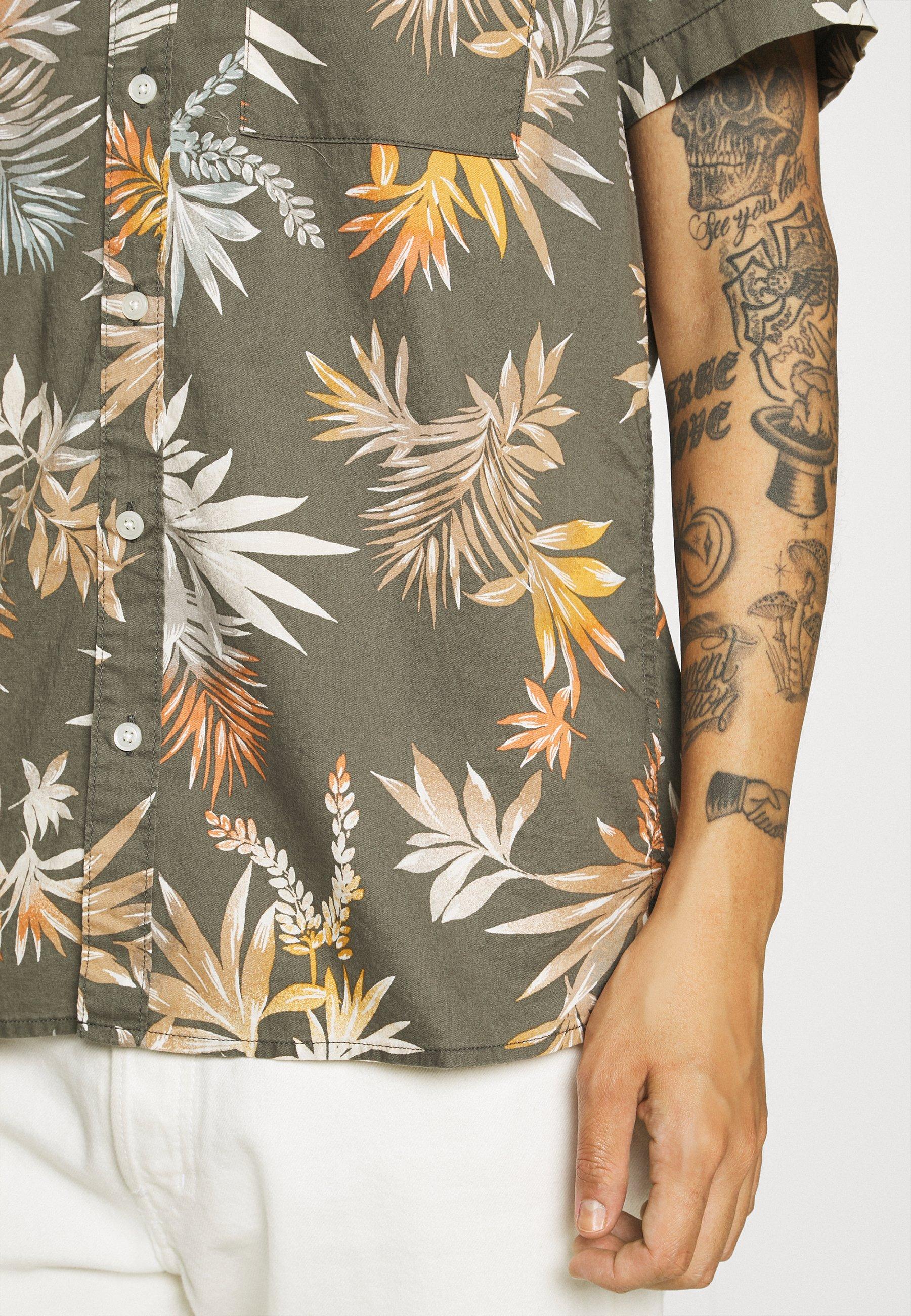 Men ANGELO TROPICAL STRETCH BLEACH WASH - Shirt