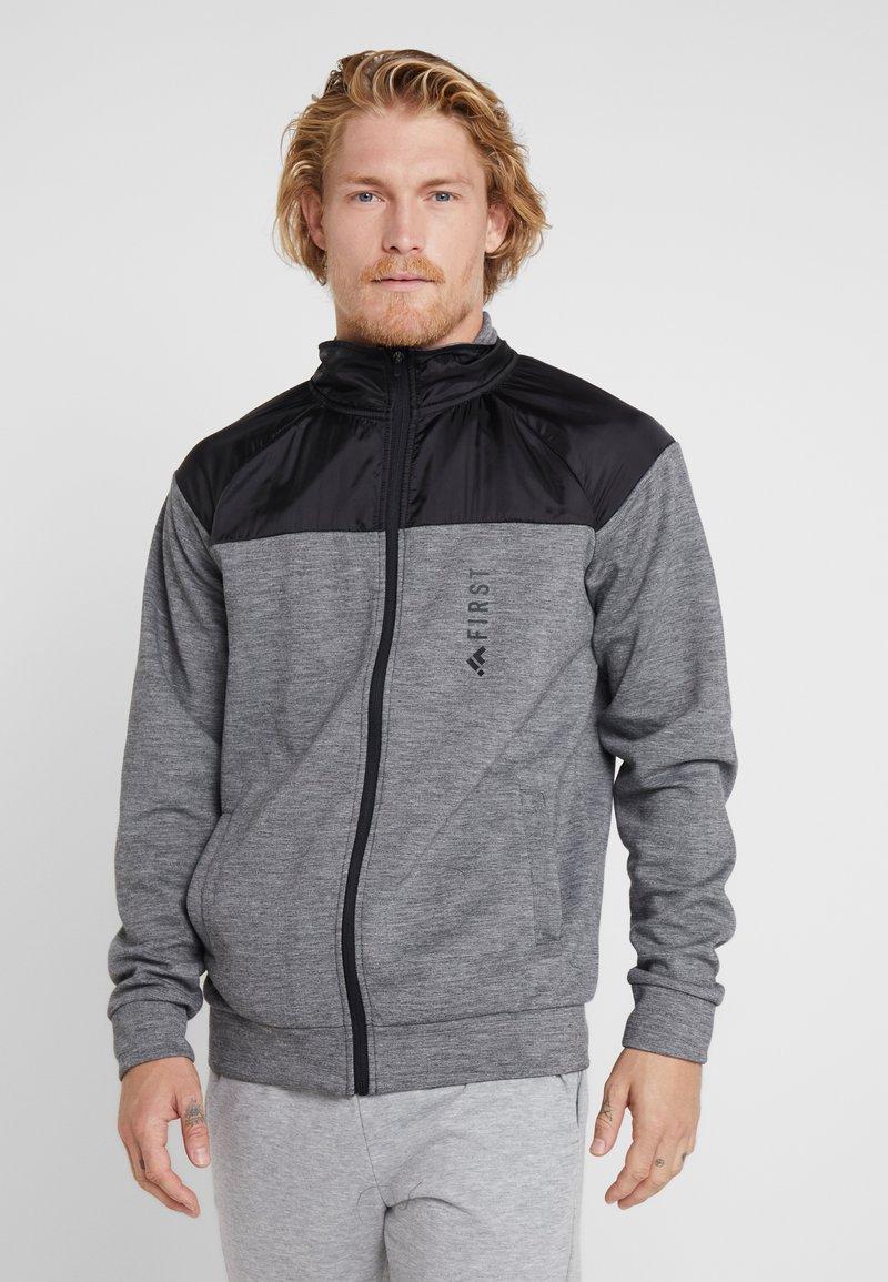 FIRST - HIGHNECK ZIP - Zip-up hoodie - medium grey melange