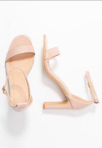 Simply Be - WIDE FIT - Sandaler med høye hæler - nude - 3