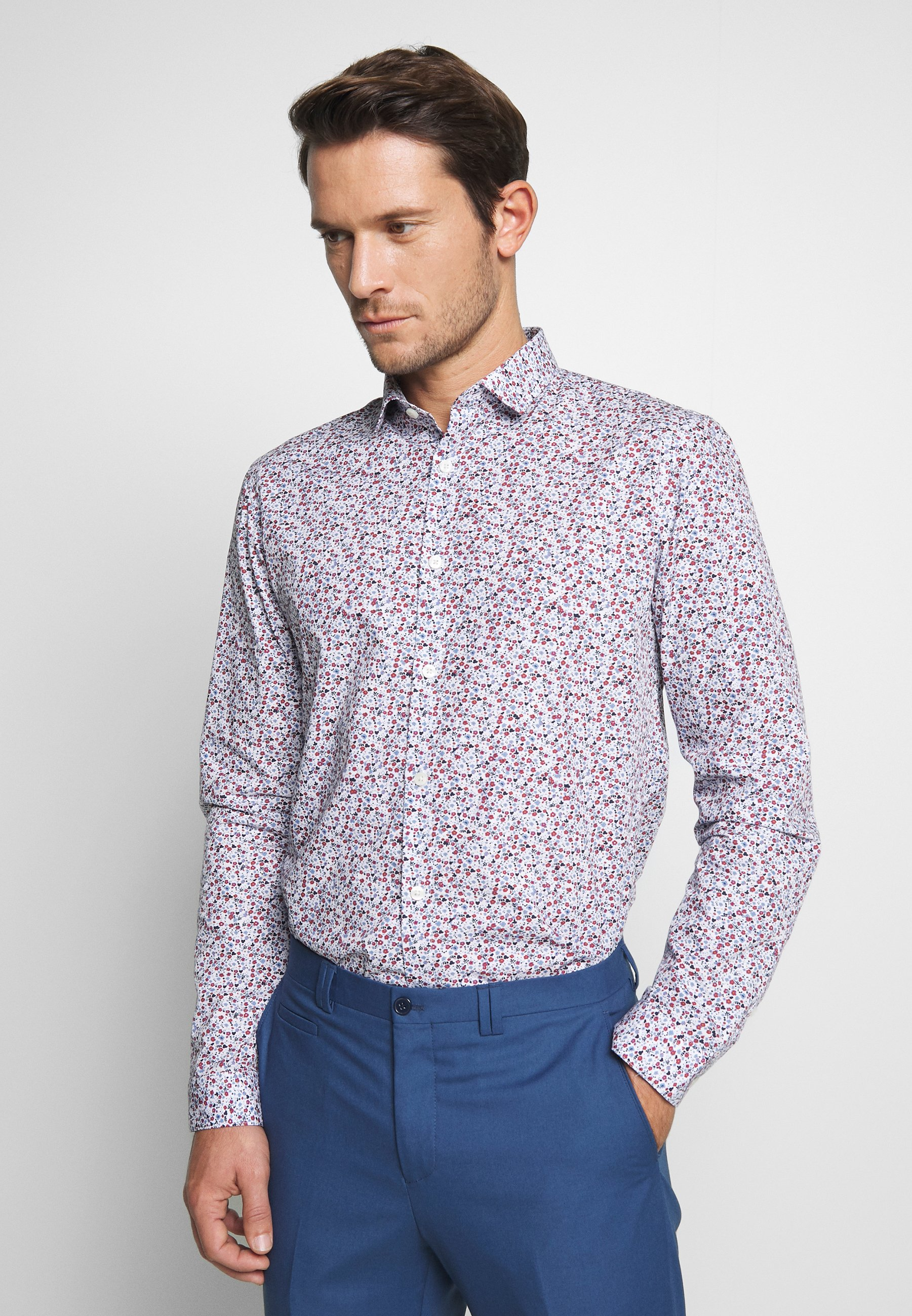 Burton Menswear London BLUESCATTERED FLORAL PRINT - Skjorte - blue