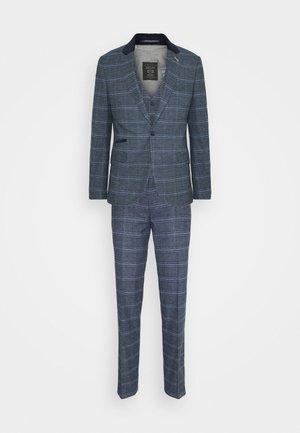 CAVAN - Oblek - blue check