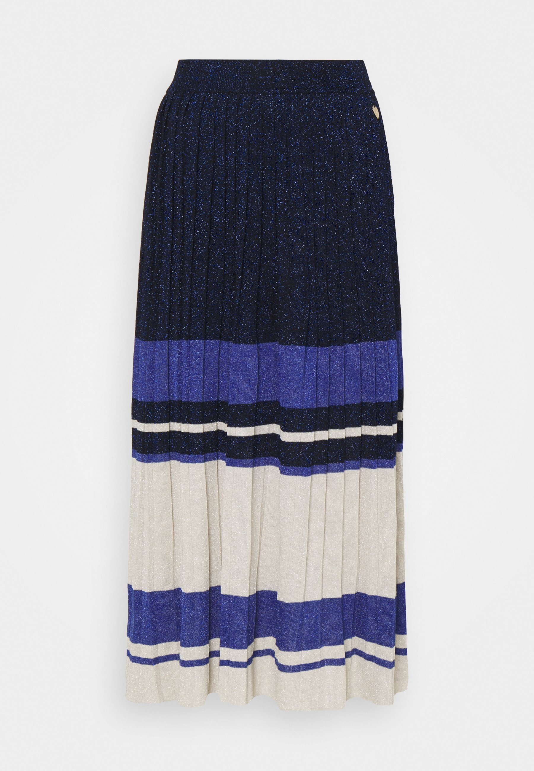 Women GONNA LUNGA IN MAGLIA PLISSE BLOCK COLOR - Pleated skirt