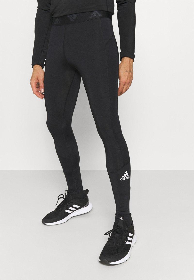 adidas Performance - LONG TECHFIT PRIMEGREEN SPORTS LEGGINGS - Tights - black