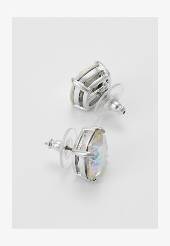 SMALL SQUARE - Earrings - silver-coloured