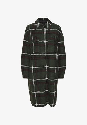 VMCHRISSIE LONG CHECK  - Classic coat - black forest