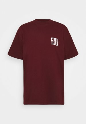 WAVING STATE FLAG  - Print T-shirt - bordeaux/white