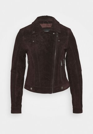 VMROYCESALON JACKET - Leather jacket - chocolate plum