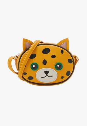 LEOPARD BAG - Across body bag - yellow