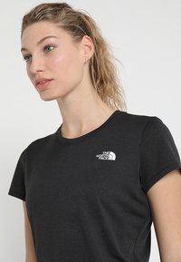The North Face - WOMENS REAXION CREW - Basic T-shirt - black heather - 3