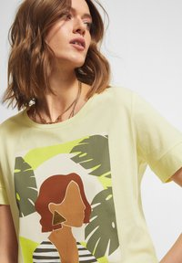 comma casual identity - Print T-shirt - lime placed woman - 4