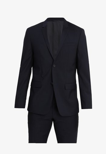 WOOL NATURAL STRETCH FITTED SUIT - Kostym - true navy