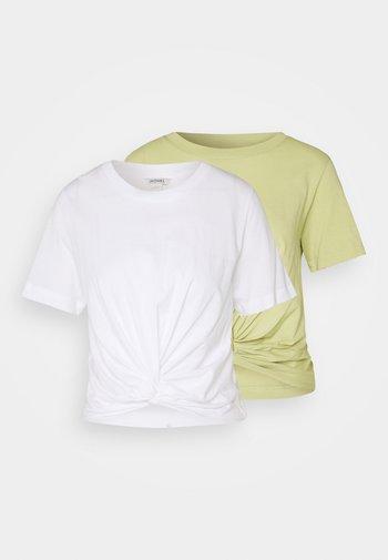 WILMA 2 PACK - T-paita - green/white