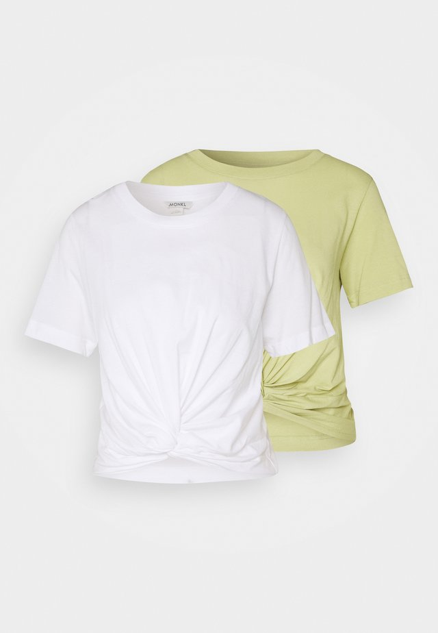WILMA 2 PACK - T-shirt basique - green/white