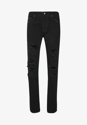 MILANO DESTROYED - Džíny Slim Fit - black