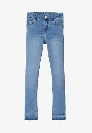 Skinny-Farkut - light blue denim
